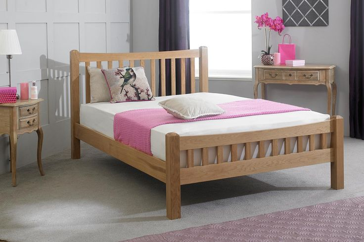 Monica Solid Oak Bed Frame 5ft - King Size | The Oak Bed Store