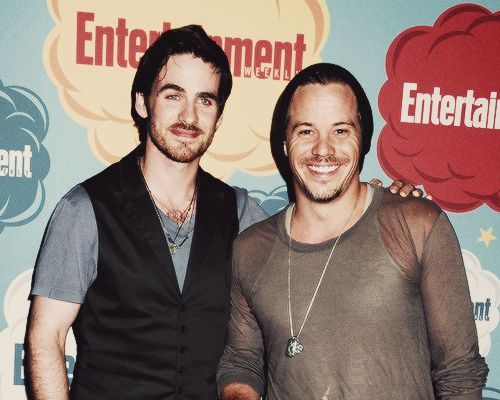 Photo of Colin O'Donoghue & his friend  Michael Raymond-James