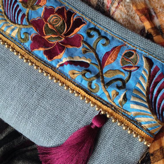 Ethnic Clutch womens bag boho bag bohemian by BOHOCHICBYDAMLA