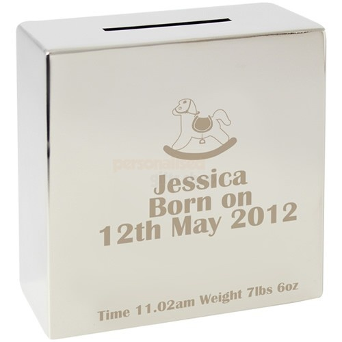 Personalised Rocking Horse Silver Money Box  from Personalised Gifts Shop - ONLY £19.95