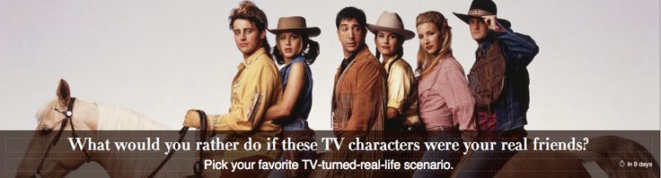 """If these TV characters were your REAL friends, what would you rather do? Play True American with NEW GIRL cast, Hang out in Central Park with the FRIENDS cast, Grab a drink with the HOW I MET YOUR MOTHER cast, or Participate in """"The Circle"""" with the THAT 70's SHOW cast?  VOTE NOW: http://www.gohone.com/#/Contest/51e8b4a1cd0205ab02000006"""