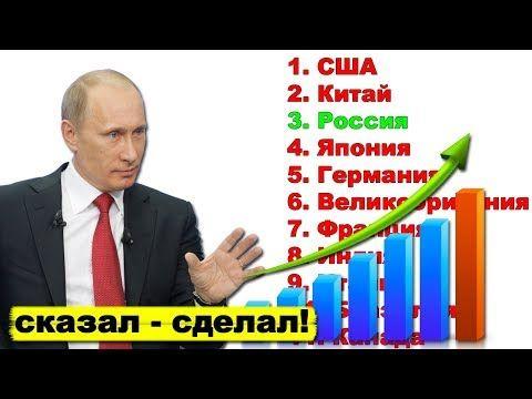 Путин выводит экономику России в пятёрку крупнейших экономик мира | Pravda GlazaRezhet - YouTube