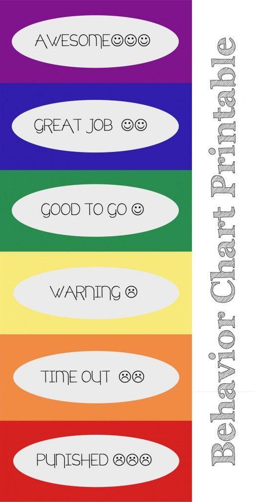 Behavior Chart Printables #HELPFULLYblog #behavior_chart #behaviorchart