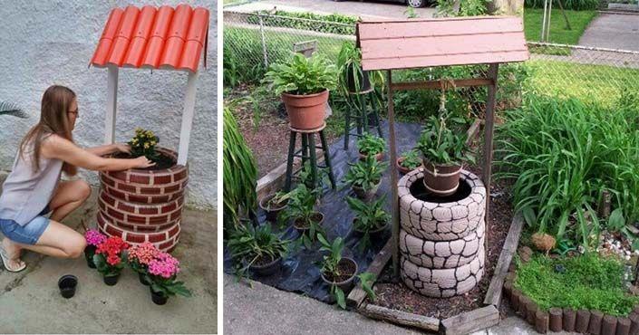 Kreatívne DIY nápady a návod zo starých pneumatík. Dekoratívne studničky do záhrady pre šťastie nemusia byť finančne ani časovo náročné. Upcyklácia