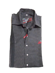 New Mens Luxury Stylish ZEMONZAA Branded Black Coloured Slim Fit Casual Shirt