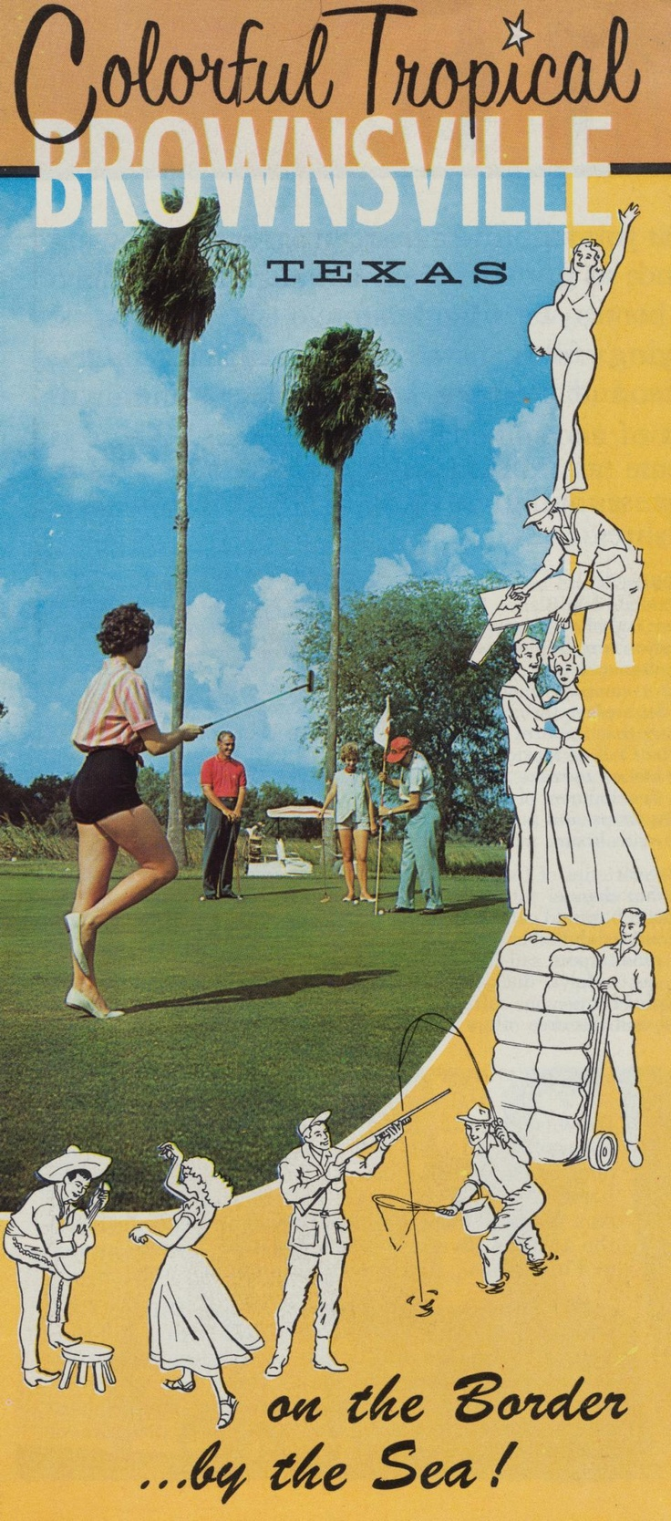 Vintage brochure for Texas tourism