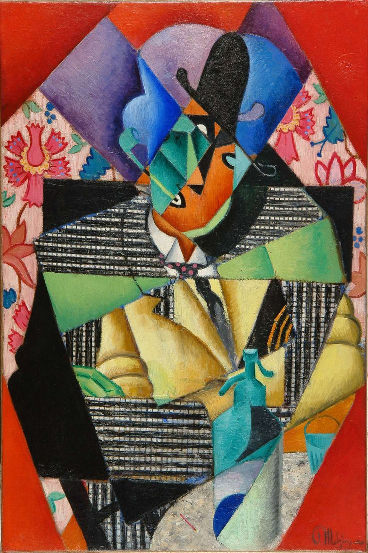 Jean Metzinger (French, 1883 - 1956) Portrait of Max Jacob, 1913 Oil on canvas