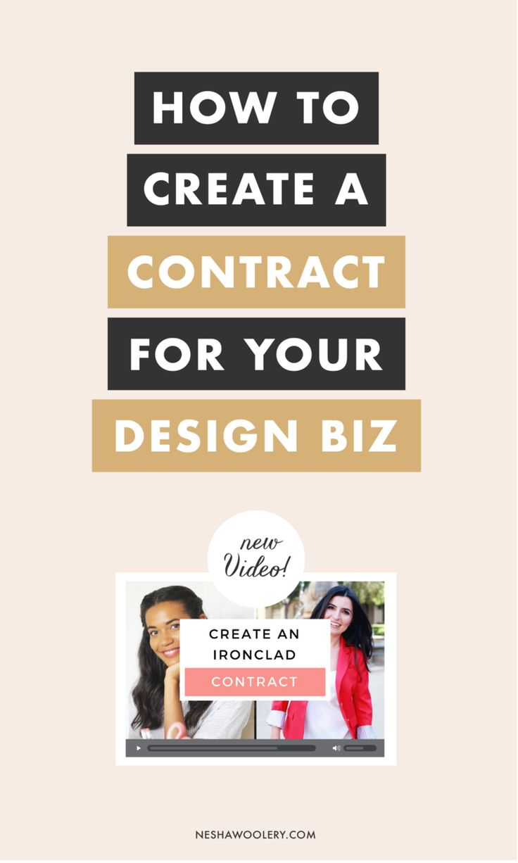 Excited to start your freelance design business but worried about getting into sticky situations with clients? No worries, boss-- just draft a killer contract to get off on the right foot. That's way easier said than done, of course, but you can click through this pin for a simple and straightforward guide to creating a contract for your freelance clients. Happy hustling!