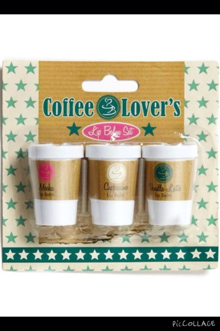 I've never seen these coffee lip balms! They look cool