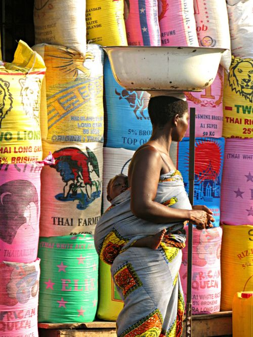 Colourfull market, Togo, Africa