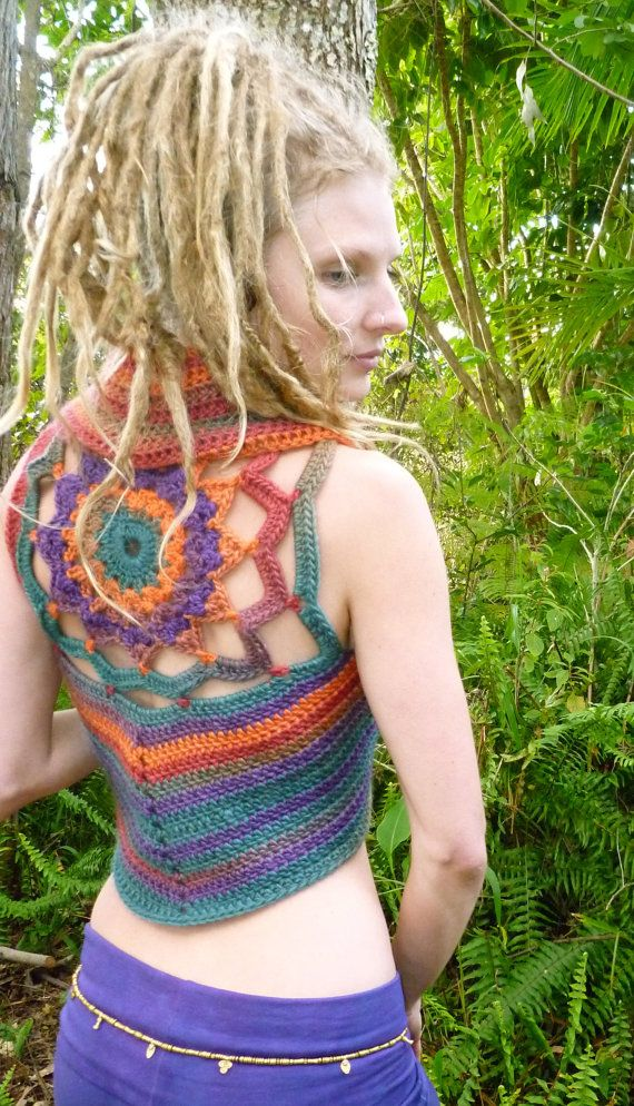 Made to Order Pixie Mandala Crochet Woolen Gypsy por Wyldeskye