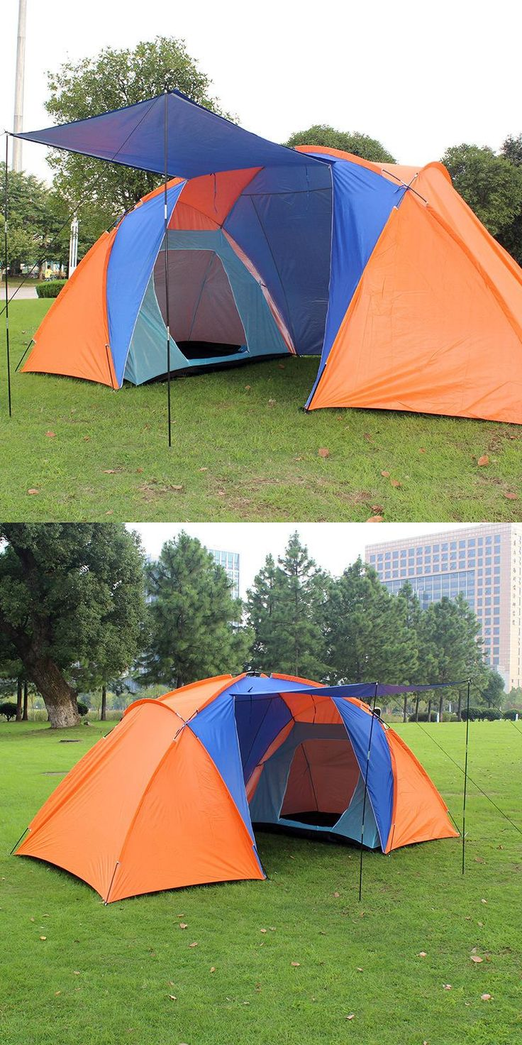 [Visit to Buy] 2016 on sale high quality 2 layer 2 bedroom 1 living room 3-4 person family hiking beach fishing waterproof outdoor camping tent #Advertisement