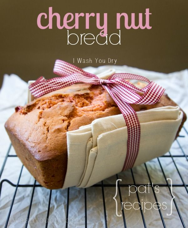 Cherry Nut Bread {Pat's Recipes}. My dear friend Pat gave me this recipe. It's a delicious quick bread that is filled with sweet cherries and walnuts (although any nut will work). It's perfect for gifting this Christmas!