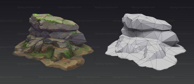Stone, Ht Jiang on ArtStation at https://www.artstation.com/artwork/RVm9W