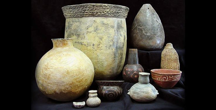 These examples of Caddo pottery from the TARL collections only hint at the extraordinary variability in vessel form, decorative technique, and size that characterizes the Caddo pottery tradition. Photo by Sharon Mitchell.