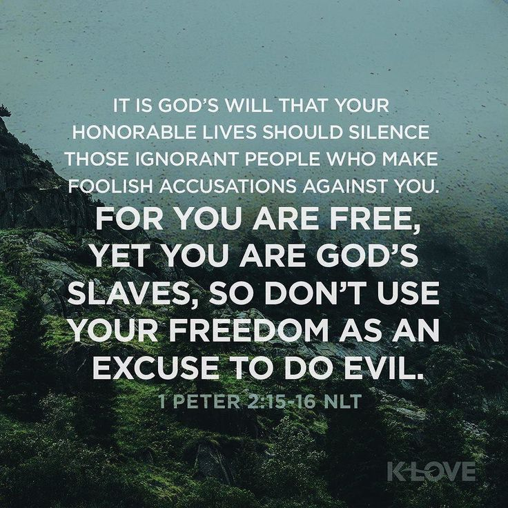 For this is the will of God that by doing good you may put to silence the ignorance of foolish men as free yet not using liberty as a cloak for vice but as bondservants of God. I Peter 2:15-16 NKJV ENCOURAGING WORD : @kloveradio  VERSE OF THE DAY : @youversion  http://www.smpsocialmediamarketing.com  Facebook/smpsocialmediamarketing  Twitter @smpsocialmedia  #Bible #Quote #Inspiration #Hope #Faith #Love #FollowMe #Follow #Tulsa #Twitter #VOTD #TulsaOklahoma #Encouragement #JesusChrist #LORD…