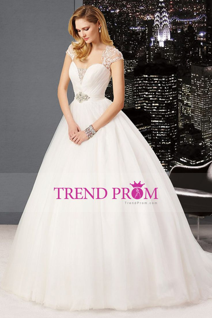 2014 Off The Shoulder Pleated Bodice Wedding Dress A Line With Tulle Skirt Beaded