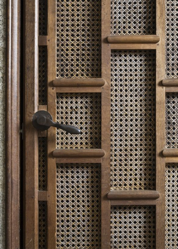 Detail of the Lutyens-designed lift door at Castle Drogo. ©National Trust Images/John Hammond