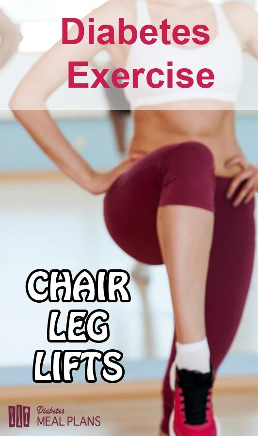 Diabetes Exercise: Chair Leg Lifts