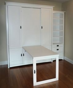 wall bed drop down desk - Google Search