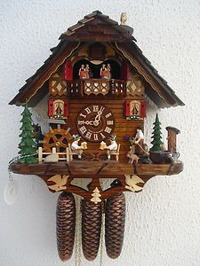 Black Forest musical cuckoo clock. Reminds me of my grandparents