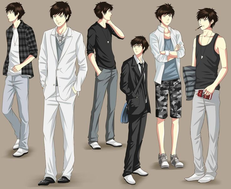 anime male clothes - 736×601