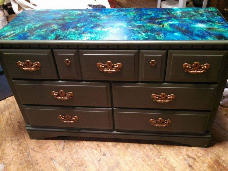 Vibrant Splatter Took This 80's Dresser to New Heights!