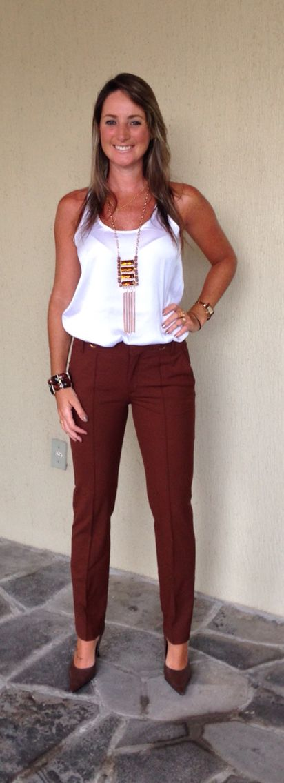 Look de trabalho - Look do dia - calça marrom - work wear - office