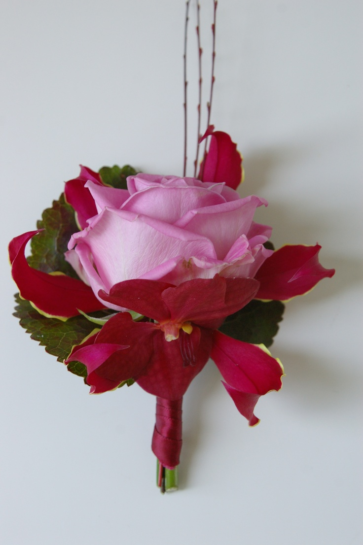corsage Roze roos