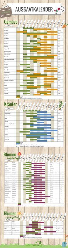 Aussaatkalender 2018: Was müssen Sie wann pflanzen? – Ma Nu