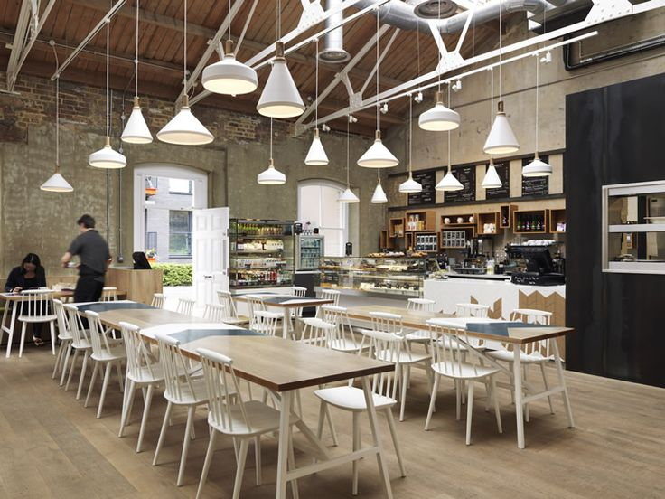 Cornerstone Cafe By Paul Crofts Studio In A Former Munitions Store In  Londonu0026 Royal Arsenal With Chevron Motifs Referencing Military Uniforms.