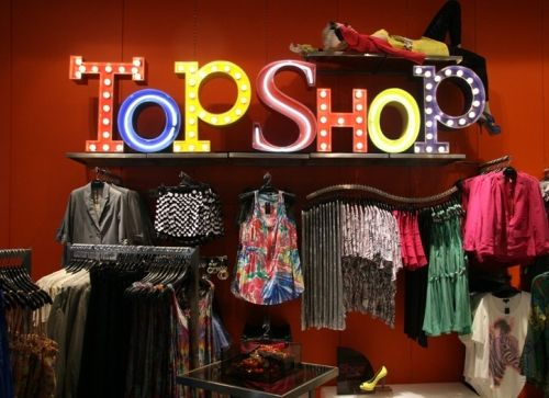 One of my first jobs was working at Topshop.