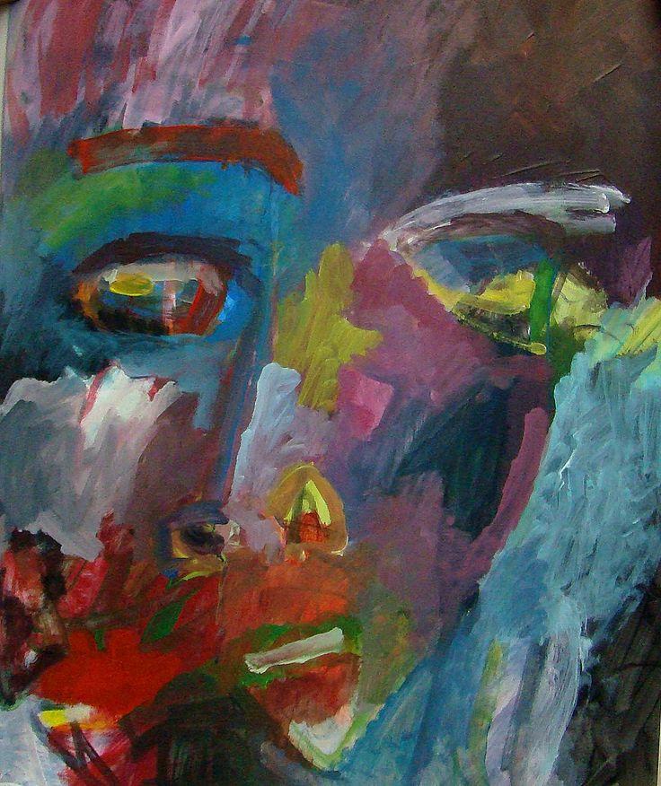 acrylique sur papier (75 * 65 cm) peinture de Aube VRBICA