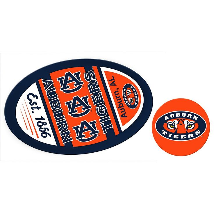 Auburn Tigers Game Day Decal Set, Multicolor
