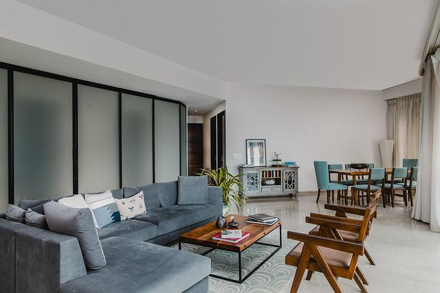 An Expat S Contemporary Pad In Mumbai Is Decorated With What You Would Expect The Least Dress Your Home Apartment Interior Design Small Apartment Interior Apartment Bedroom Decor