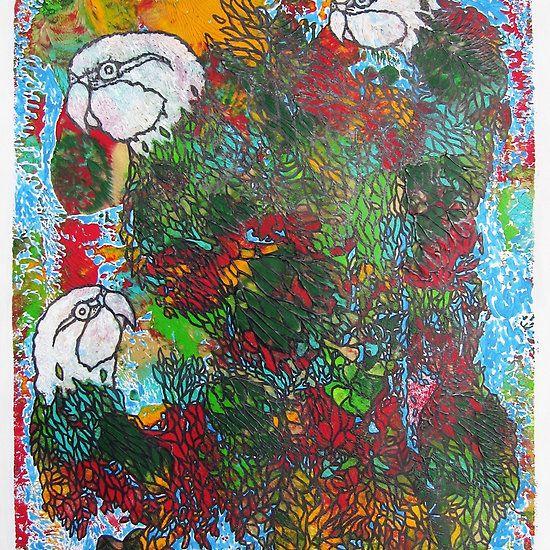 breakbeat eastern rosellas #samserif #easternrosella #rosella #abstractbirds #birds #breakbeat