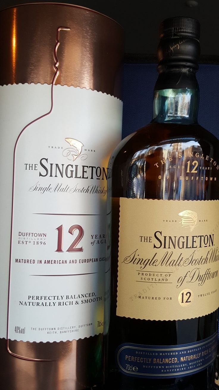 The Singleton Dufftown 12 years. Single Malt Scotch Whiskey. matured in American and European casks.