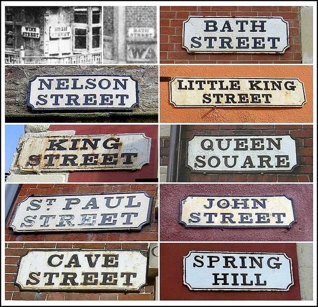visit everywhere in bristol.... btw cute Bristol's Oldest Street Signs