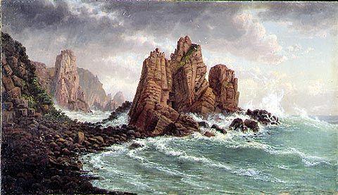 Affichage des roches de granit Au Cap Woolamai de Eugene Von Guerard (1811-1901, Austria)
