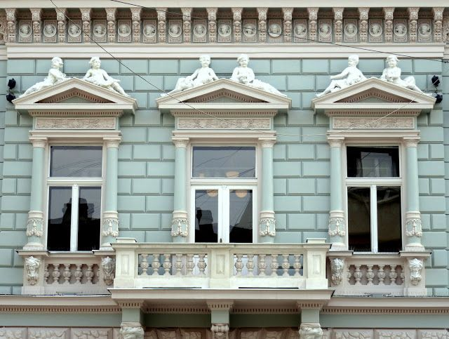 Lovely Building and Window Details in Novi Sad, Serbia