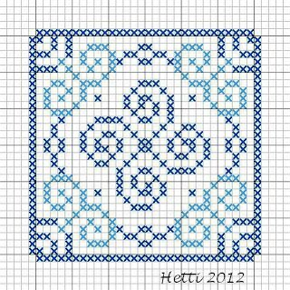 Creative Workshops from Hetti: SAL Delfts Blauwe Tegels, Deel 5 - SAL Delft Blue Tiles, Part 5., Tile 5