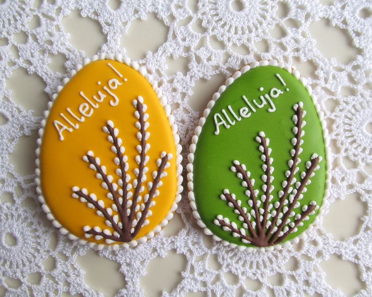 Easter cookies with catkins