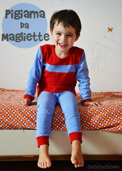 Mammabook: Cucire un pigiama da vecchie magliette, guest post di Cucicucicoo – Sew pajamas from old T-shirts