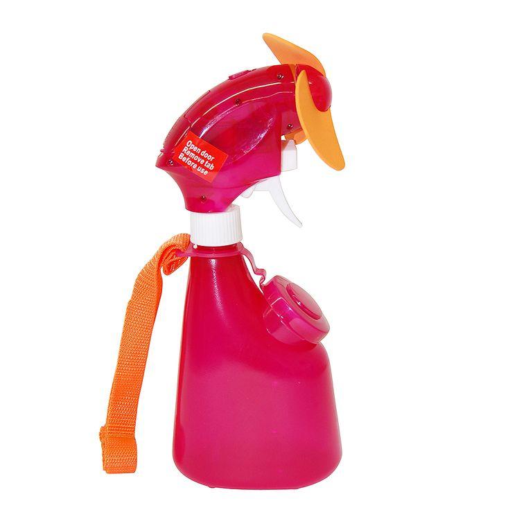 12627 Spray Water Bottle Misting Fan Pink Beach