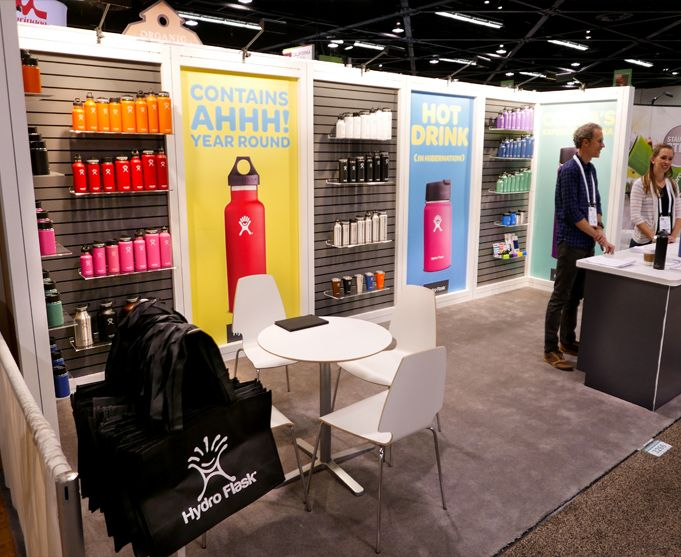 hydroflask portable tradeshow booth by condit at natural products expo west