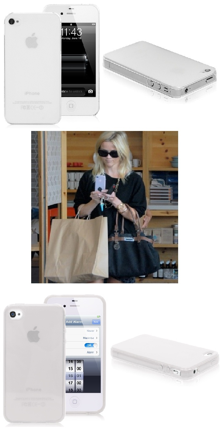 Reese Witherspoon is using an iPhone 4 White Elegant Case #ReeseWitherspoon #iphone #case #iphone4 #elegant #white #covers $5.19