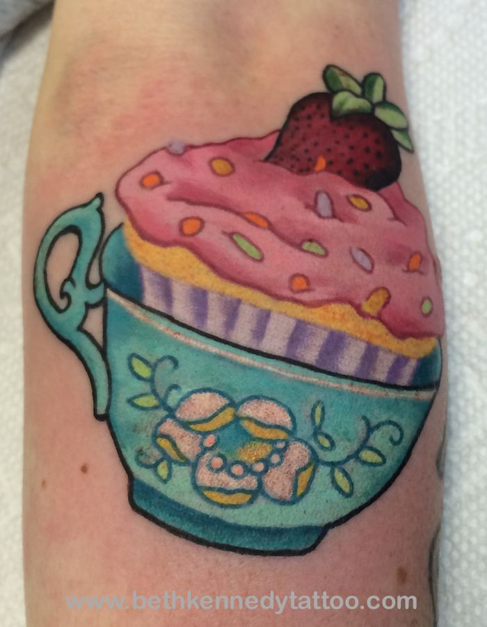 feminine teacup tattoo | So sweet it hurts your teeth! [img src=http://bethkennedytattoo.com/wp ...