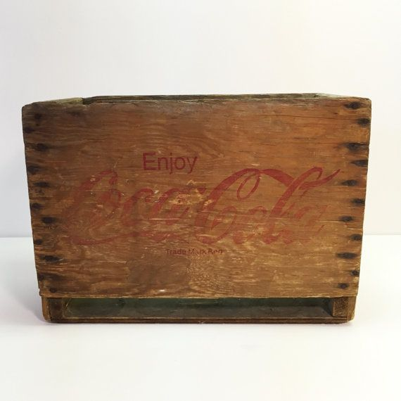 Vintage Enjoy CocaCola Wood Box Collectible Coke Storage Container Old Coca Cola Crate  Measured Approx. 19.5 x 14 x 9  Great addition to your Coke collection, use it for storing, organizing or turn it into shelving, a side table or whatever else your creativity inspires! For an exact shipping rate please message us with your details. Thanks and happy shopping