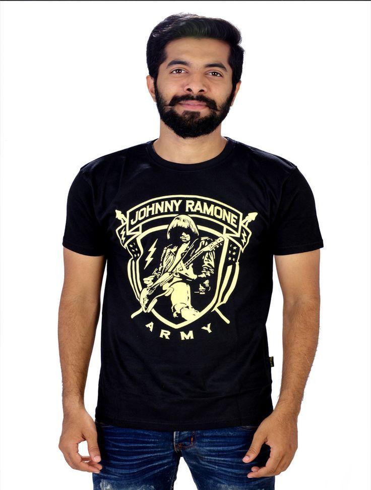 Johny Ramone Army Men's Black Tee - TrendsBay