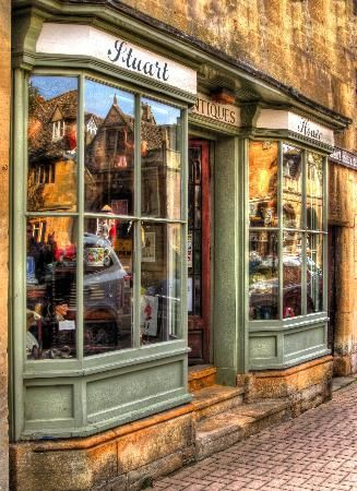 YThe Cottswolds, UK.   You don't see stores made like this any more. Quaint little towns with stores like this are hard to find.